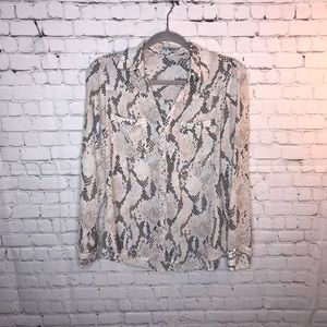Express Portofino Snake Skin Shirt